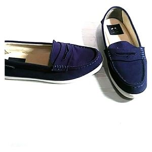 Cole Hann navy blue  Nantucket loafers sz 9.5